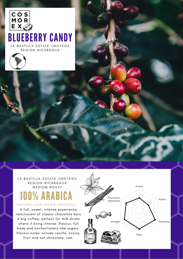 Coffee bean roaster Canberra specialty coffee blend Nicaragua blueberry candy flavour notes
