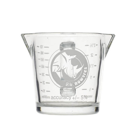 RHINOWARES SHOT GLASS DOUBLE SPOUTED 60ML