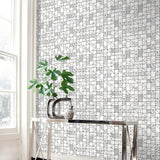 SD00806DS Belfiore stacked shapes geometric wallpaper decor from Say Decor