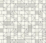 SD00806DS Belfiore stacked shapes geometric wallpaper from Say Decor