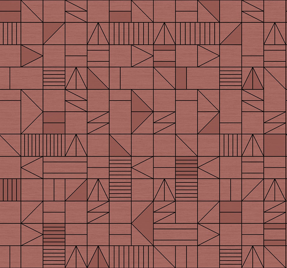 SD10806DS Belfiore stacked shapes geometric wallpaper from Say Decor