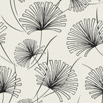 Etten Gallerie Black & White Silver Palm Botanical Wallpaper