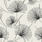 1302410 silver palm botanical wallpaper from the Black and White collection by Etten Gallerie