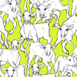14105x iltavilli cow animal wallpaper from Marimekko Volume 5