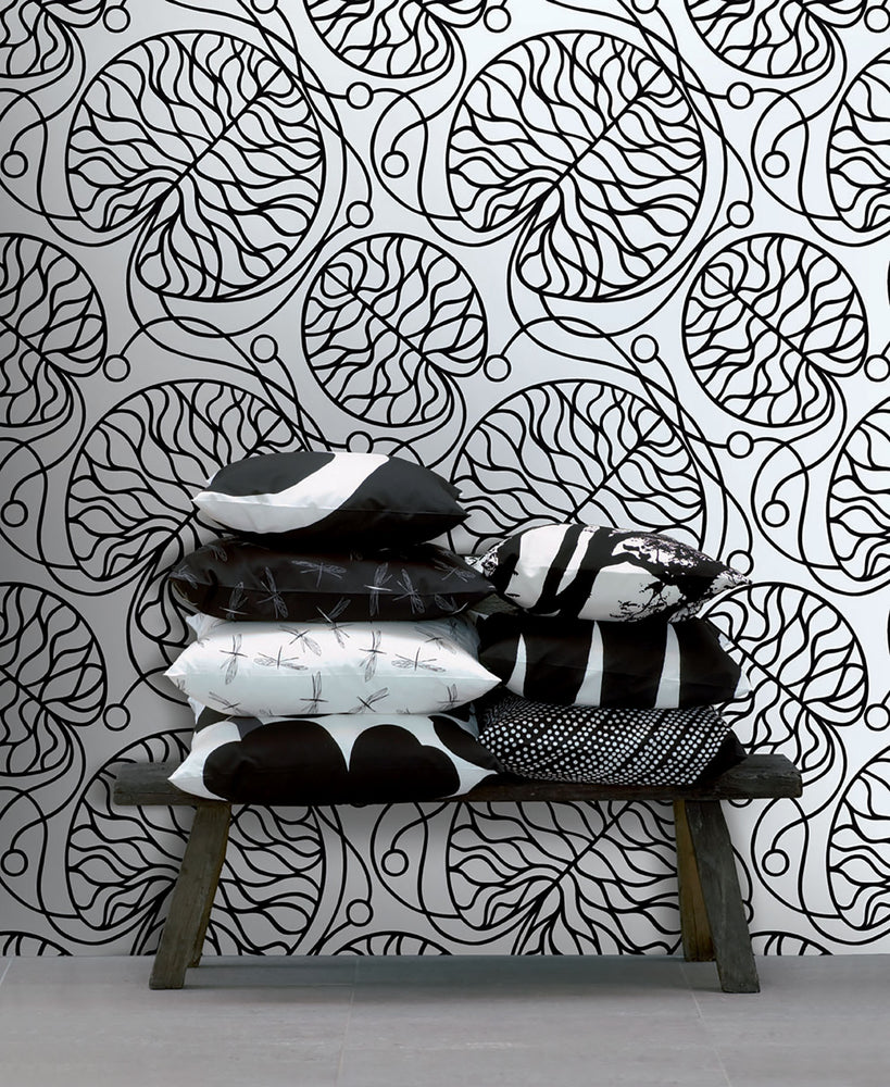 JV Wallcoverings Marimekko Vol. 5 Bottna Medallion Wallpaper