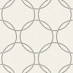 1821010 polka dot geometric wallpaper from the Black & White wallpaper collection by Etten Gallerie