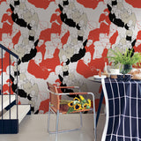 JV Wallcoverings Marimekko Vol. 5 Ystävät Abstract Wallpaper