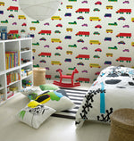 Childrens Bedroom with Marimekko Volume 5 Boboo Car Wallpaper