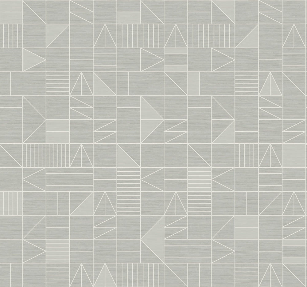 SD80806DS Belfiore stacked shapes geometric wallpaper from Say Decor