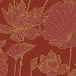 AI42301 lotus floral wallpaper from the Koi collection by Seabrook Designs