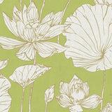 AI42304 lotus floral wallpaper from the Koi collection by Seabrook Designs