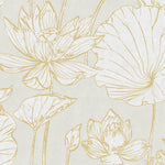 AI42305 lotus floral wallpaper from the Koi collection by Seabrook Designs