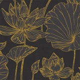 AI42306 lotus floral wallpaper from the Koi collection by Seabrook Designs