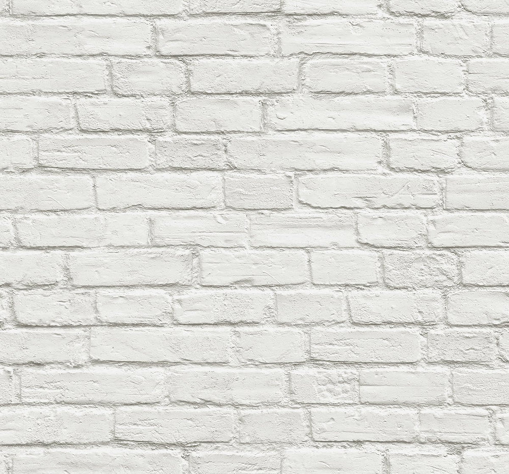 AX10800 peel and stick white brick removable wallpaper by NextWall