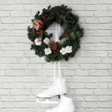 AX10810 winter vintage brick christmas peel and stick removable holiday wallpaper from NextWall
