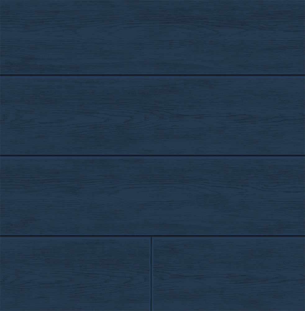 NextWall Coastal Blue Shiplap Peel and Stick Removable Wallpaper
