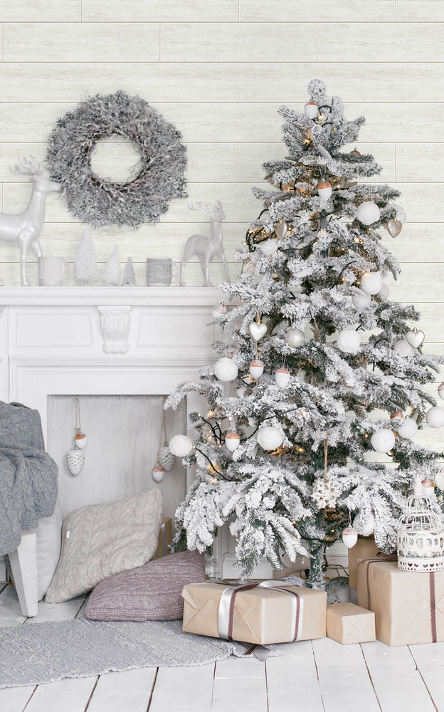 AX10910 farmhouse shiplap christmas peel and stick removable holiday wallpaper from NextWall
