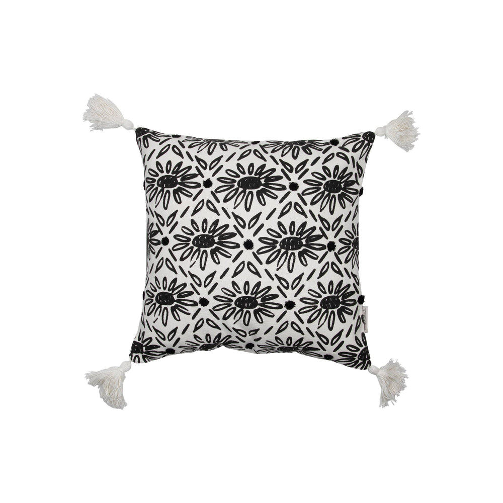Arianna hand woven cotton throw pillow front