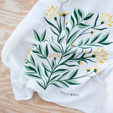 KT601 aster floral bouquet tea towel detail from Hazelmade