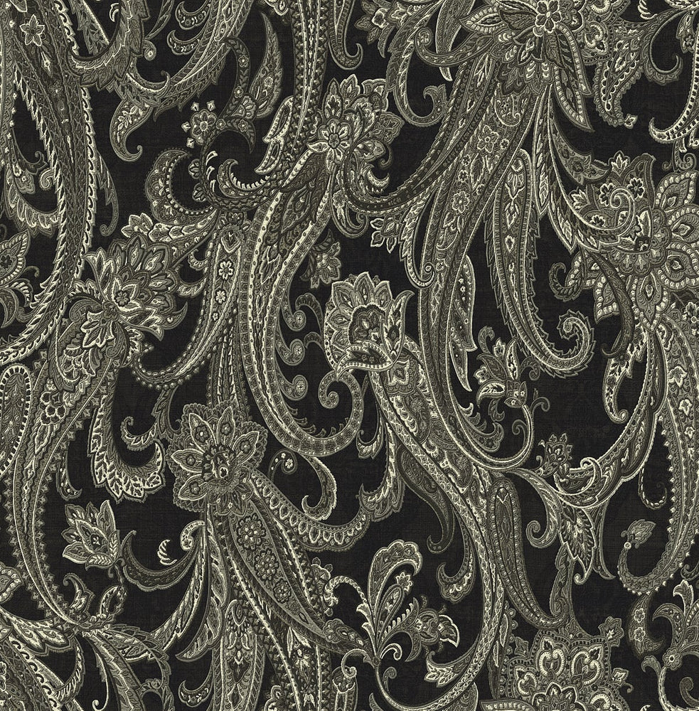 Cewell Bay Nautical Paisley Wallpaper
