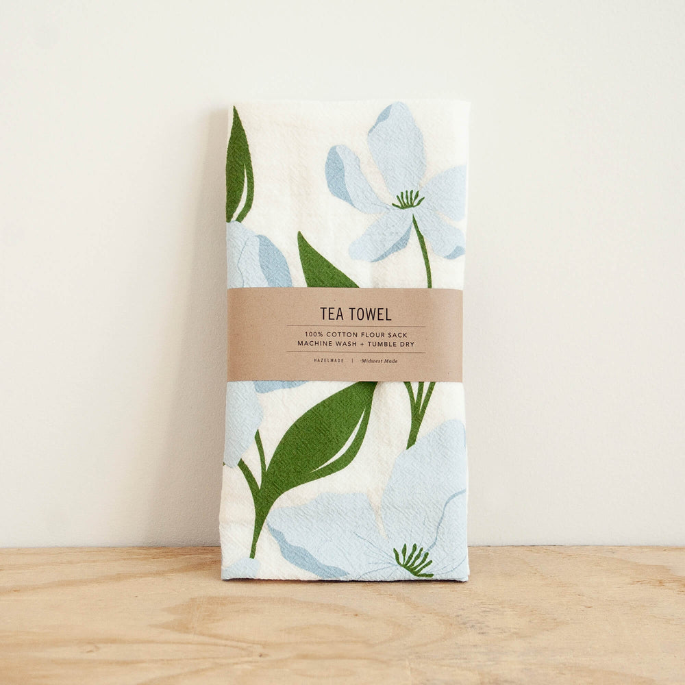 KT604 dogwood floral tea towel package from Hazelmade