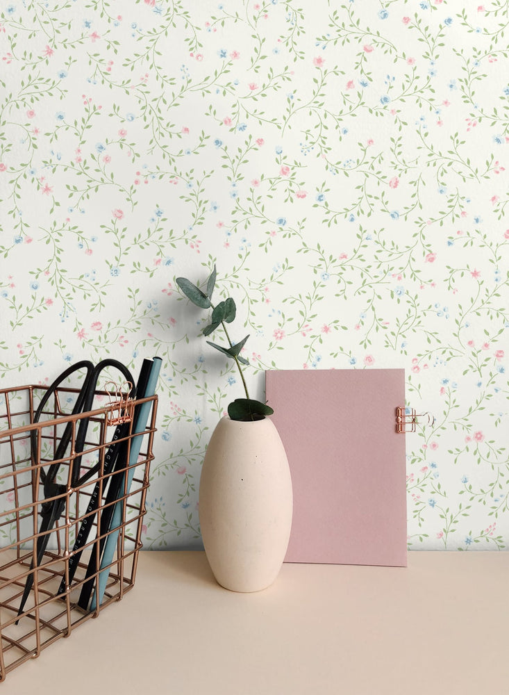 SD20506SG teeny blossom floral wallpaper office from Say Decor