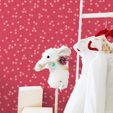 SD10806SG Day Lily teeny floral polka dot wallpaper from Say Decor