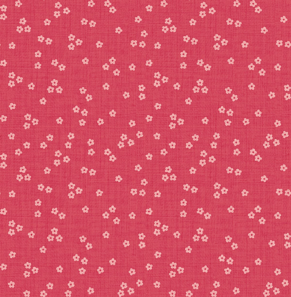 SD10806SG Day Lily teeny floral polka dot wallpaper nursery from Say Decor