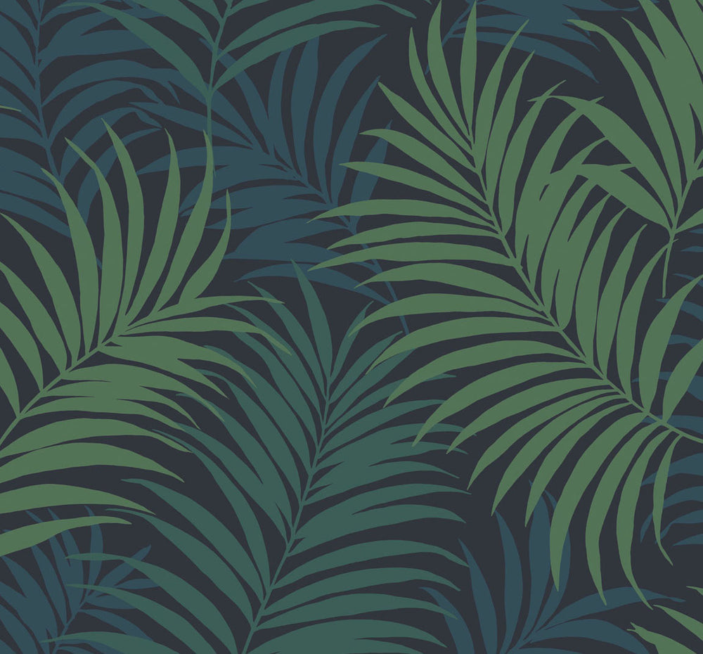 LN10112 via palma tropical palm leaf wallpaper from the Luxe Retreat collection by Lillian August