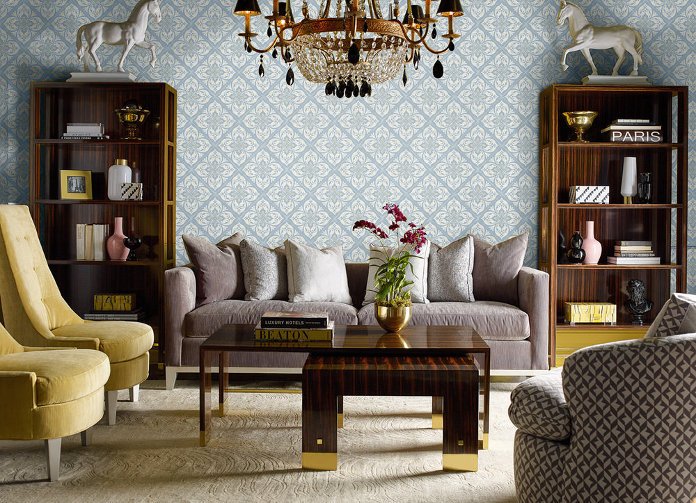 Lillian August Luxe Retreat Plumosa Tile Wallpaper