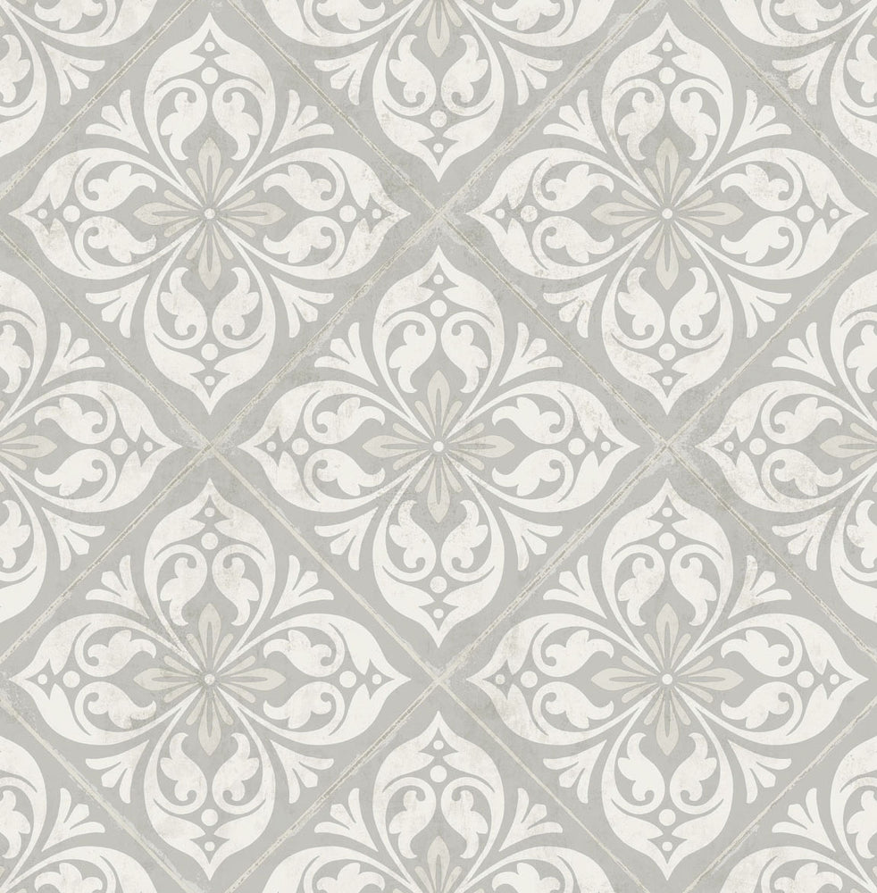 LN11008 Plumosa tile wallpaper from the Luxe Retreat collection by Lillian August