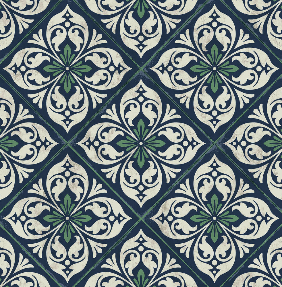 LN11012 Plumosa tile wallpaper from the Luxe Retreat collection by Lillian August