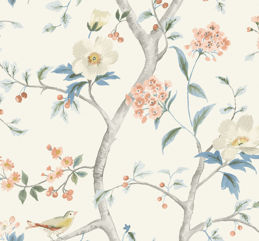 LN11101 Southport floral trail botanical wallpaper from the Luxe Retreat collection by Lillian August