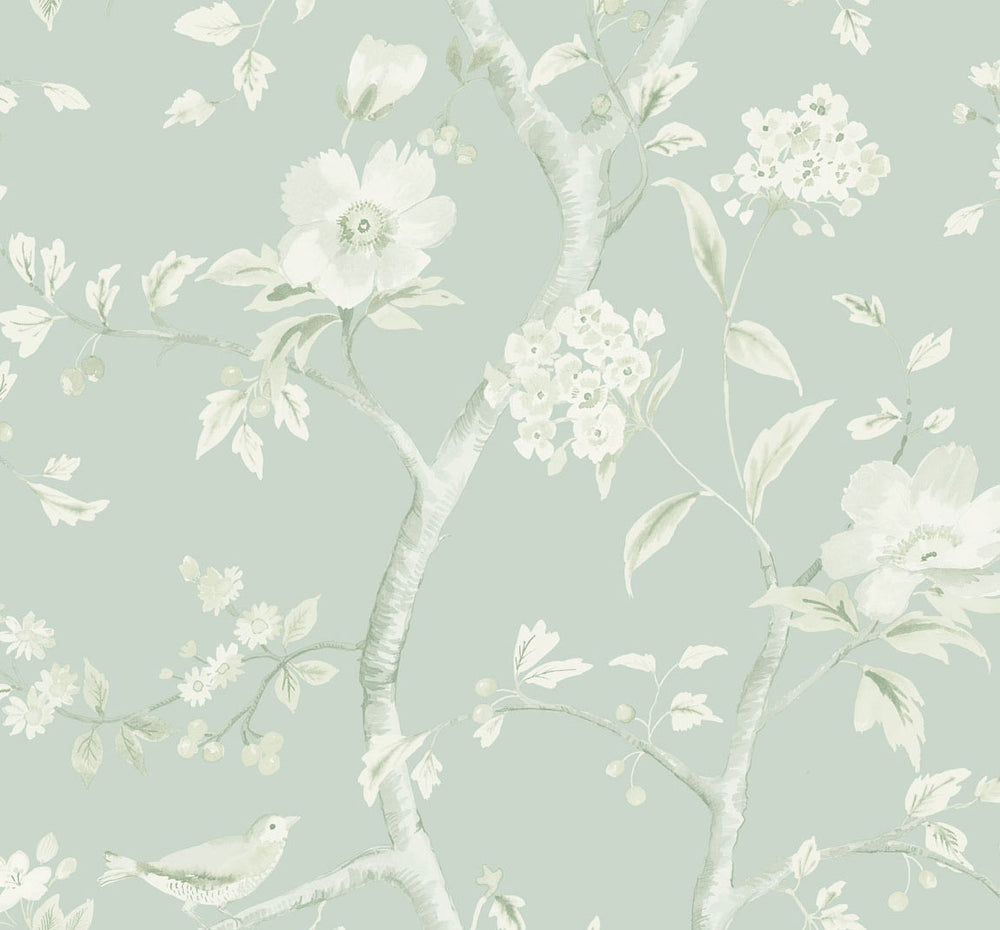 LN11104 Southport floral trail botanical wallpaper from the Luxe Retreat collection by Lillian August