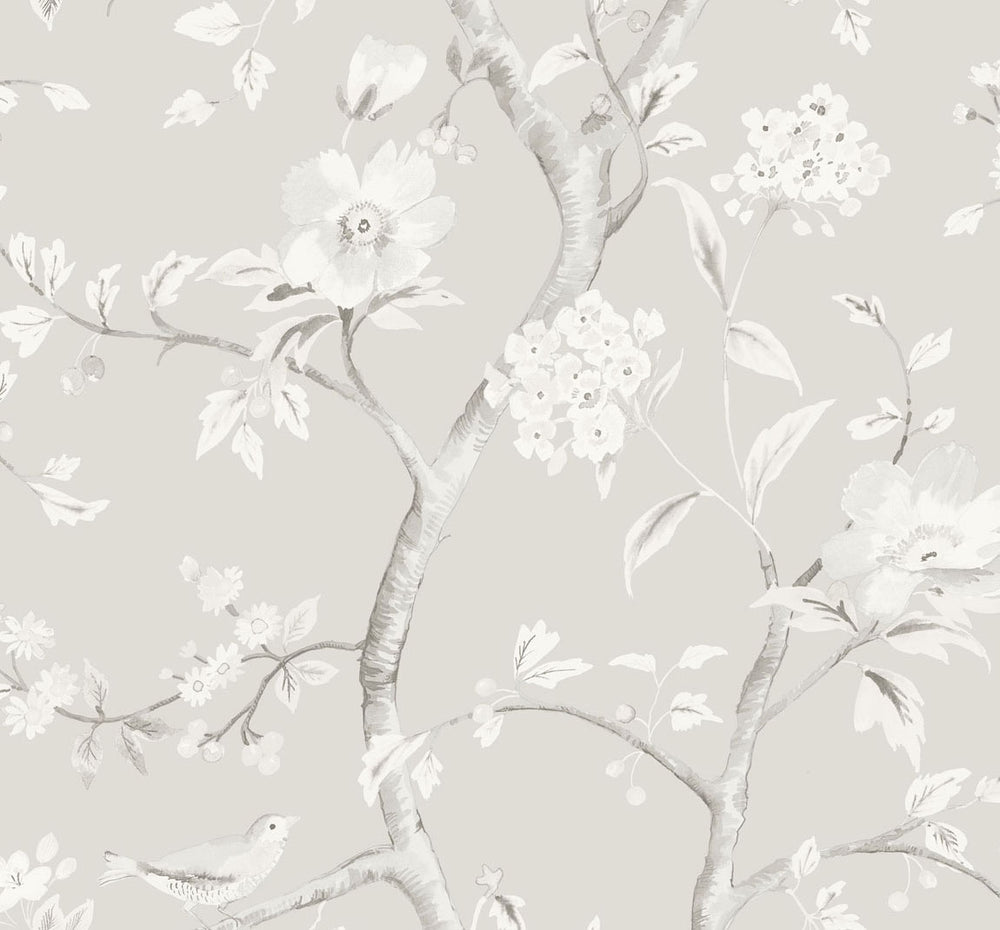 LN11108 Southport floral trail botanical wallpaper from the Luxe Retreat collection by Lillian August