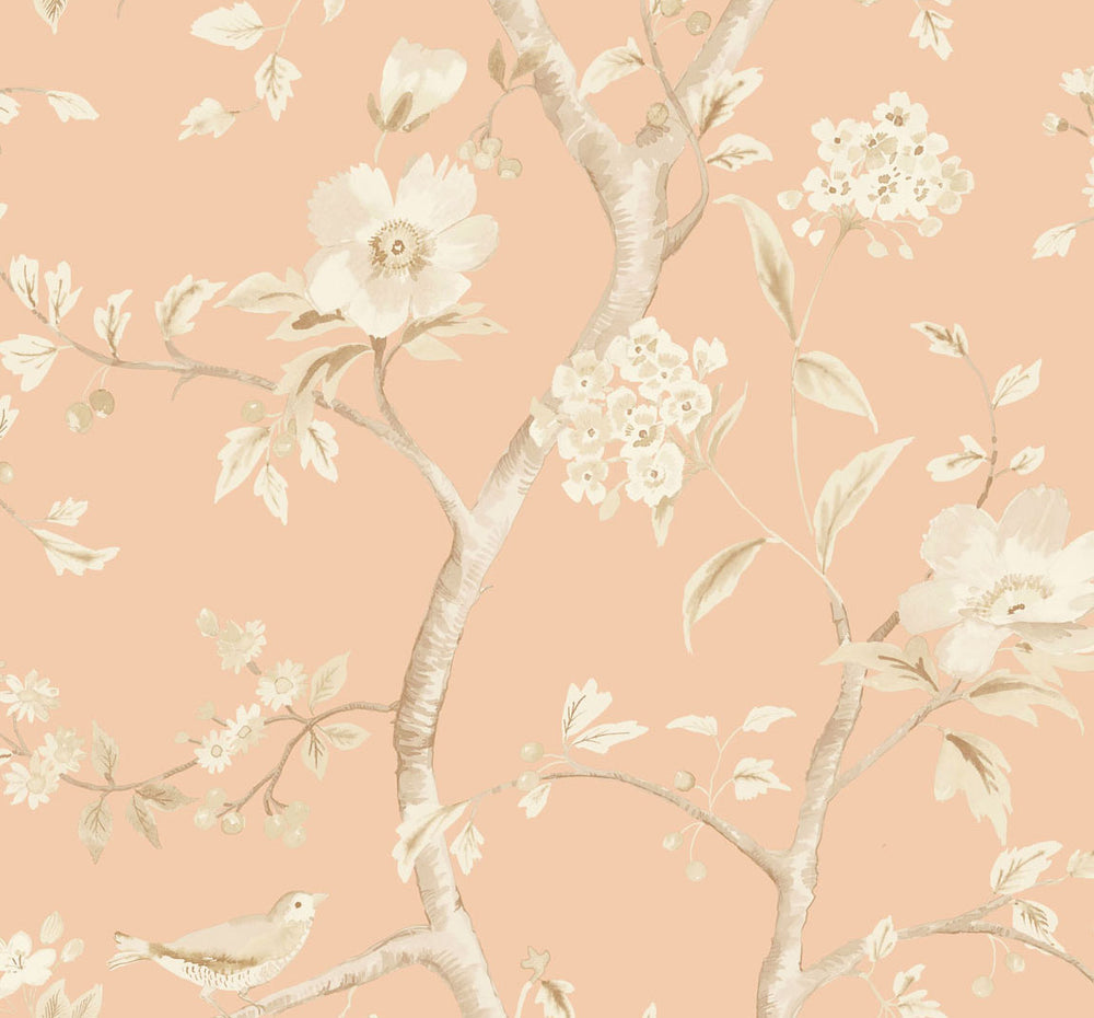 LN11111 Southport floral trail botanical wallpaper from the Luxe Retreat collection by Lillian August