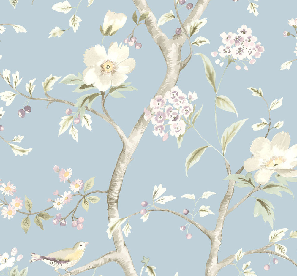 LN11112 Southport floral trail botanical wallpaper from the Luxe Retreat collection by Lillian August
