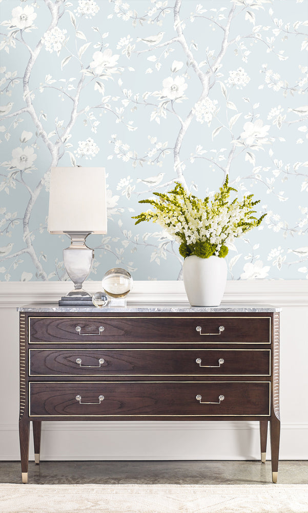 Lillian August Luxe Retreat Southport Floral Trail Wallpaper