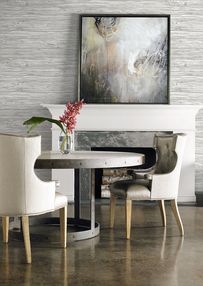 Lillian August Luxe Retreat Washed Wood Embossed Vinyl Wallpaper