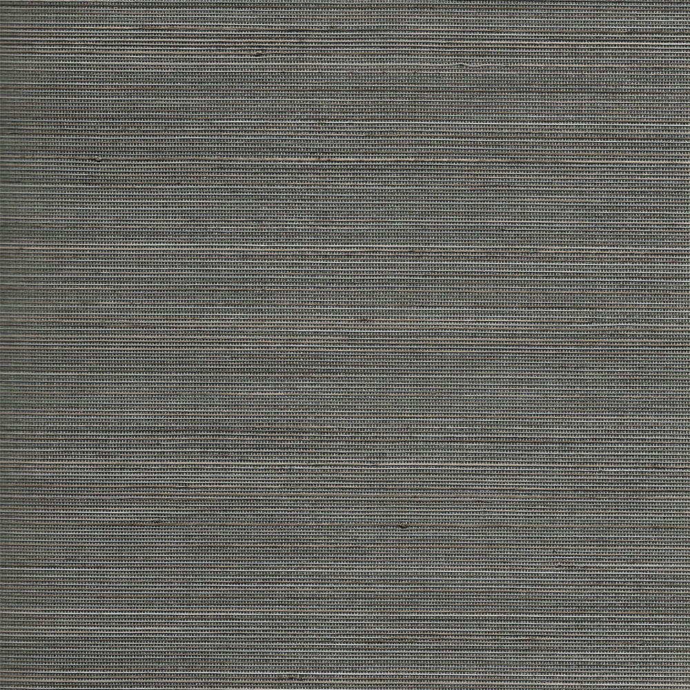 Lillian August Luxe Retreat Charcoal and Sandstone Shimmer Abaca Grasscloth Wallpaper
