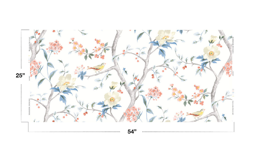 Lillian August Luxe Retreat Southport Floral Trail Chinoiserie Fabric