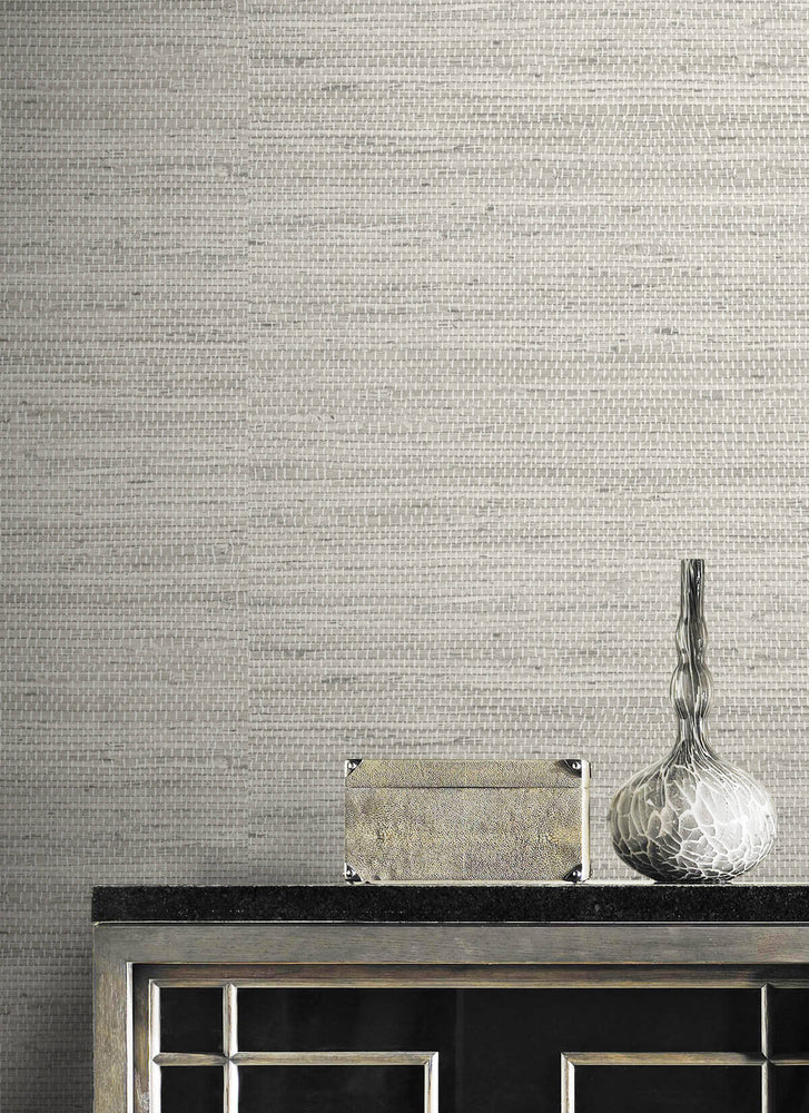 LN20200 Luxe weave grasscloth peel and stick wallpaper detail from the Luxe Haven collection by Lillian August