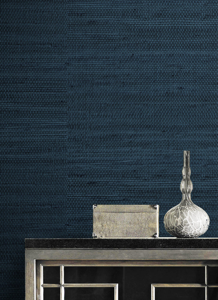LN20202 Luxe weave grasscloth peel and stick wallpaper detail from the Luxe Haven collection by Lillian August