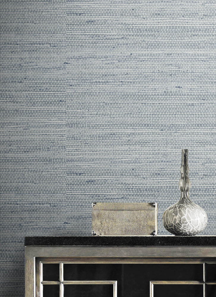 LN20210 Luxe weave grasscloth peel and stick wallpaper detail from the Luxe Haven collection by Lillian August