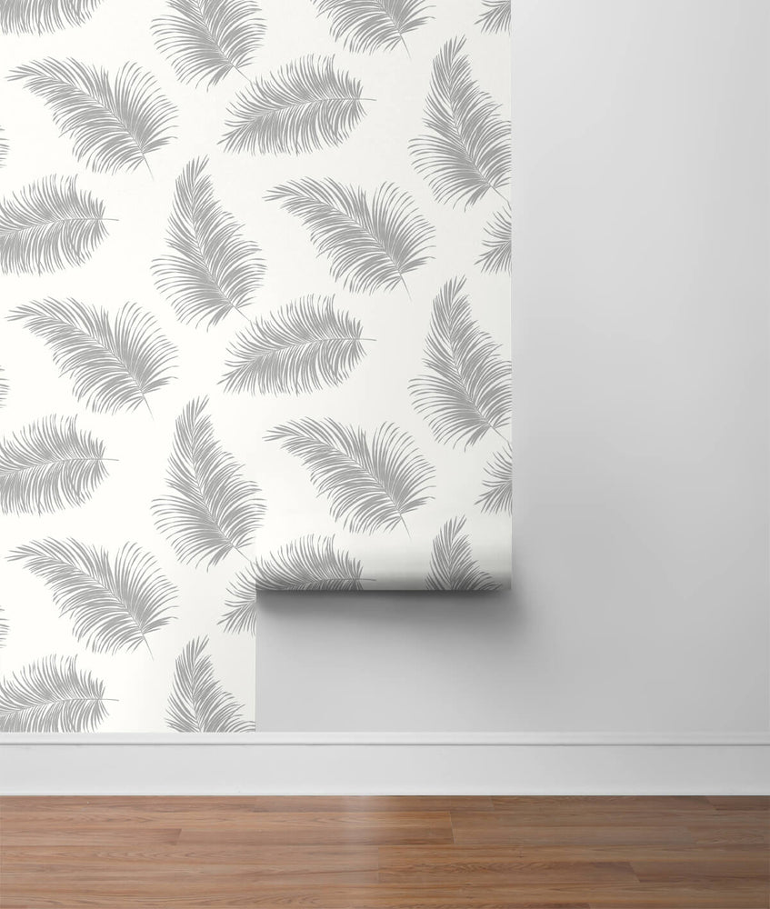 LN20305 tossed palm peel and stick removable wallpaper roll from the Luxe Haven collection by Lillian August