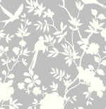 LN20505 mono toile chinoiserie peel and stick removable wallpaper from the Luxe Haven collection by Lillian August