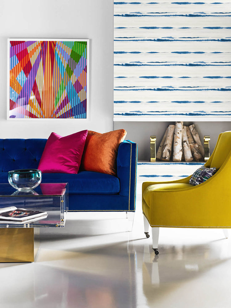 LN20602 horizon stripe abstract peel and stick wallpaper art from the Luxe Haven collection by Lillian August