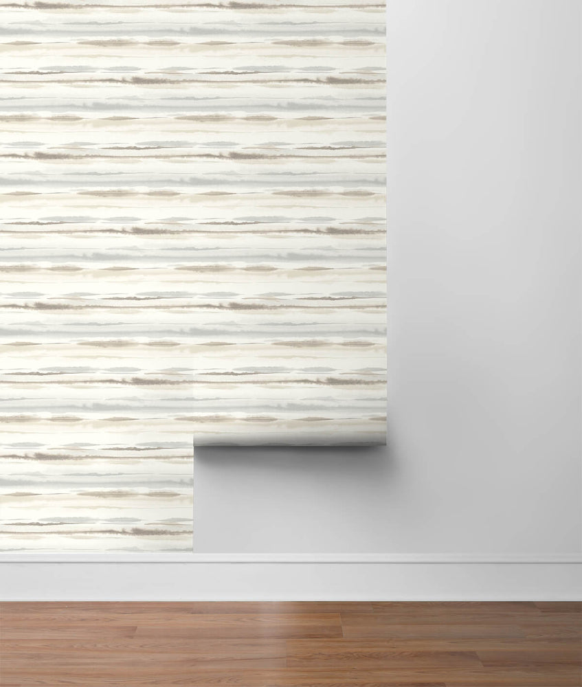 LN20605 horizon stripe abstract peel and stick wallpaper roll from the Luxe Haven collection by Lillian August