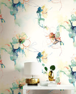 Seabrook Designs Living with Art Anemone Watercolor Floral Wallpaper