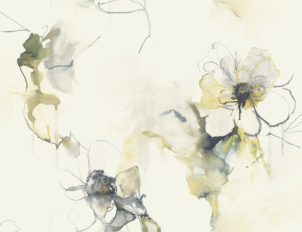 LW50007 Floral Wallpaper from the Living with Art collection by Seabrook Designs